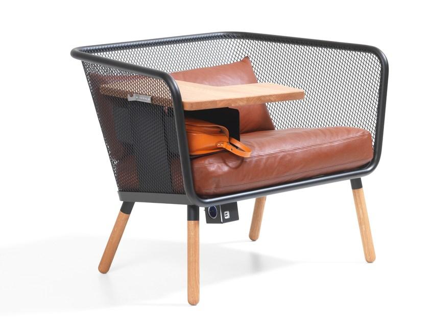 Leather small sofa HONKEN WORKSTATION | Leather small sofa - Blå Station