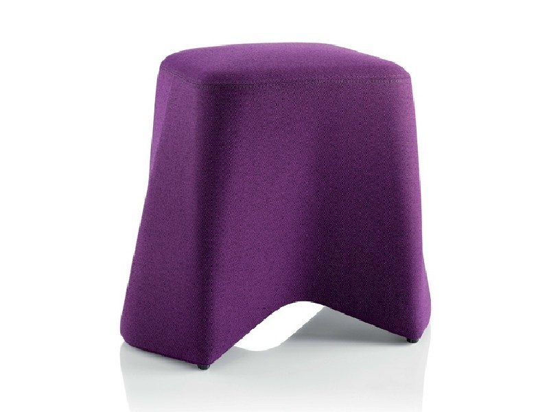 Upholstered fabric pouf HOOT - Boss Design