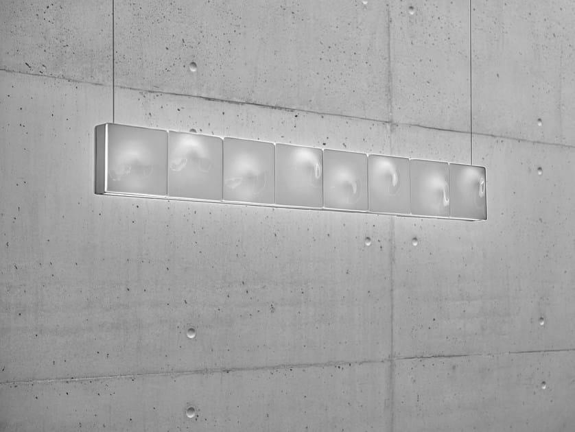 Lampada a sospensione a LED fatta a mano in alluminio termolaccato HORIZON - Exporlux