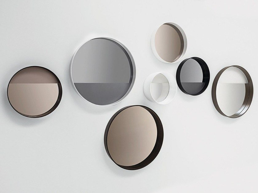 Round wall-mounted framed mirror HORIZON LINEA - SOVET ITALIA