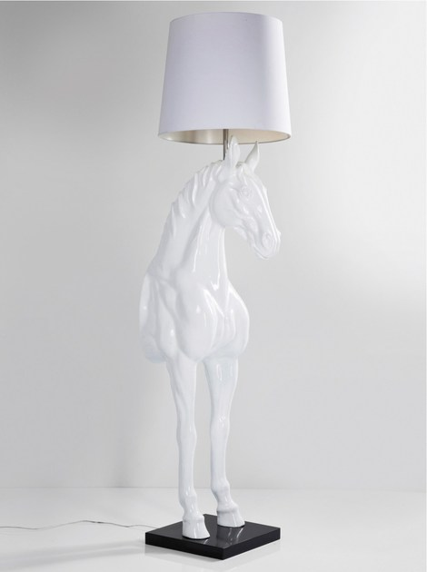 Glass-fibre floor lamp HORSE | Floor lamp - KARE-DESIGN