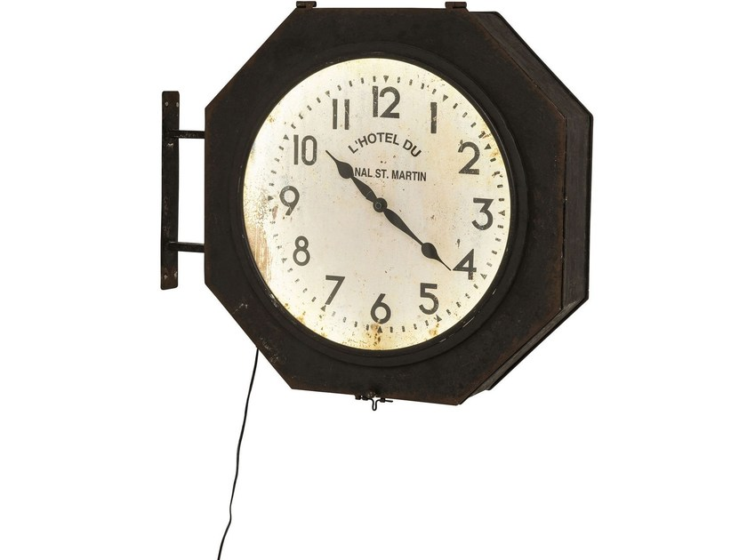 Wall-mounted steel clock HOTEL DU ST MARTIN LED - KARE-DESIGN