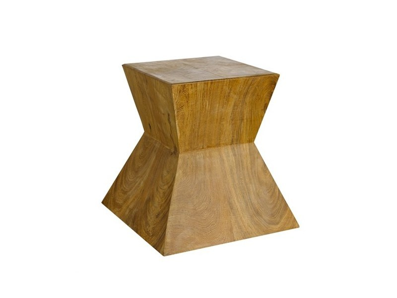 Wooden stool / coffee table HOURGLASS - Pols Potten