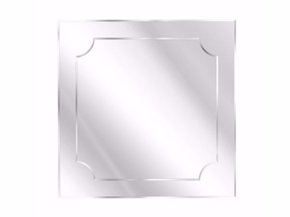 Square wall-mounted mirror HOWARD | Square mirror - Gianfranco Ferré Home