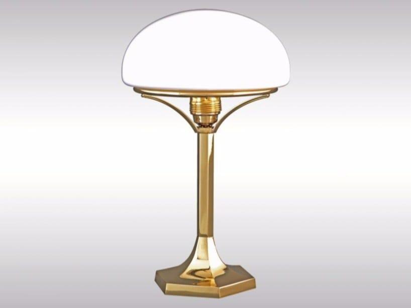 Brass table lamp HSP2 - Woka Lamps Vienna