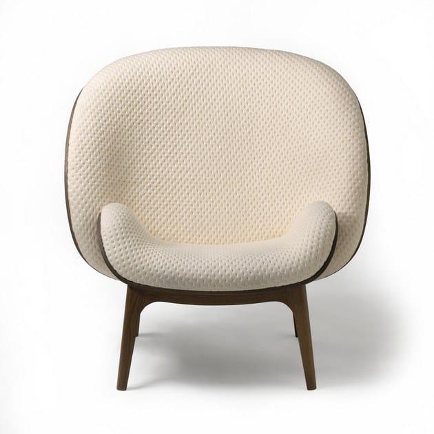 Bergere fabric armchair HUG - PERROUIN SIEGES