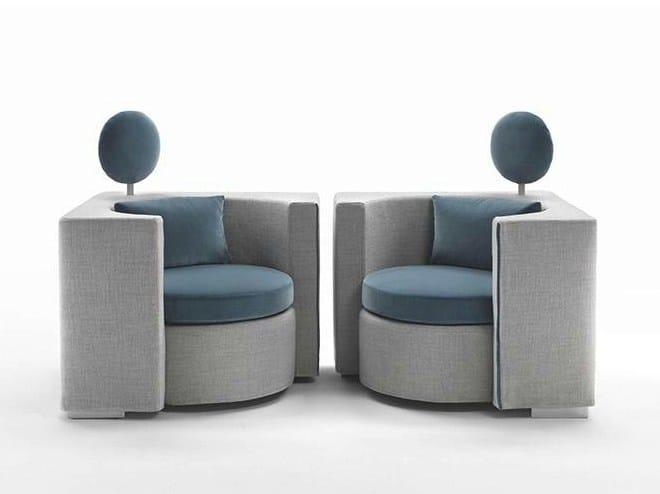 Fabric armchair with armrests HUG | Fabric armchair - Marac