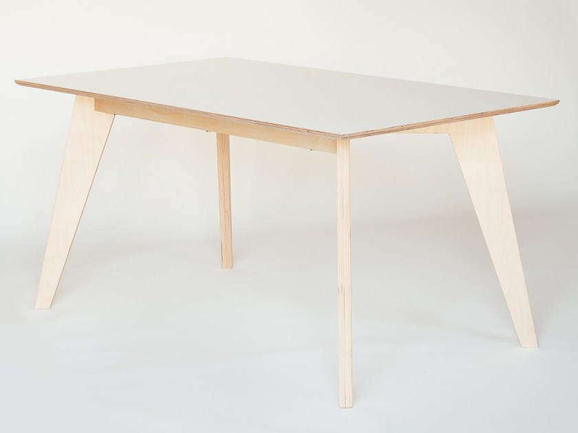 Rectangular plywood dining table HUH | Dining table - Radis