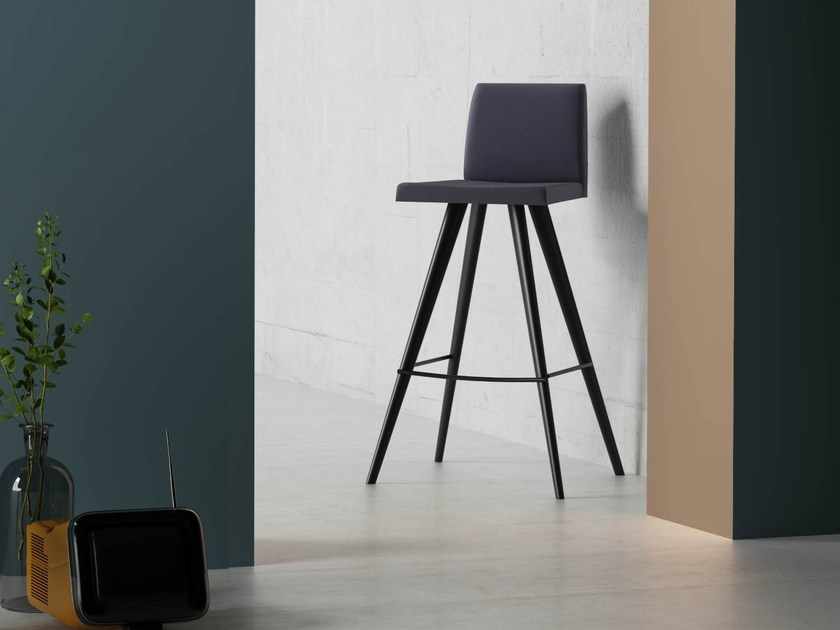 Fabric counter stool with footrest HULA HOOP | Counter stool - Imperial Line