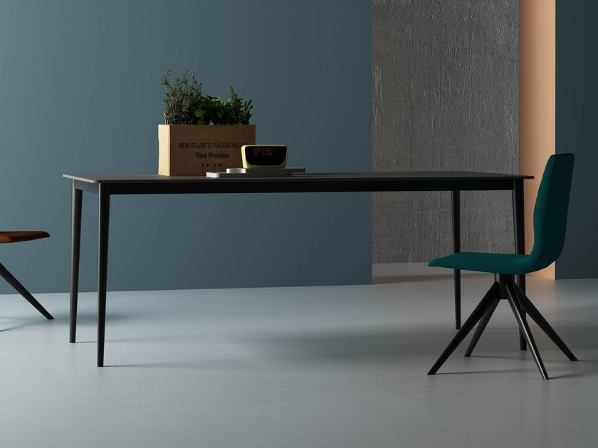 Extending rectangular Fenix-NTM® contract table HULA HOOP | Table - Imperial Line