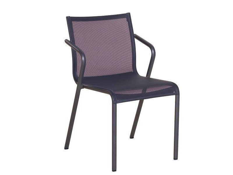 Stackable Batyline® garden chair with armrests HYBRID 77 | Batyline® chair by Les jardins