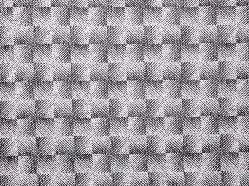 Washable Trevira® CS fabric with graphic pattern HYPNOSE by LELIEVRE