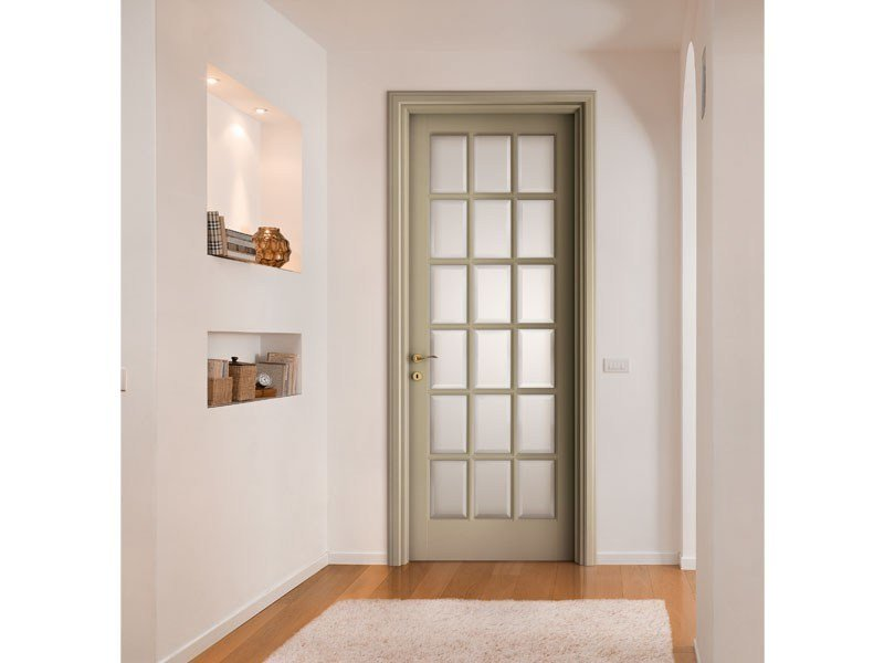 Lacquered solid wood door I LACCATI by LEGNOFORM