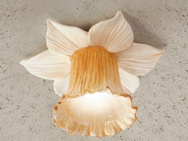 Ceramic ceiling light I NARCISI - Aldo Bernardi