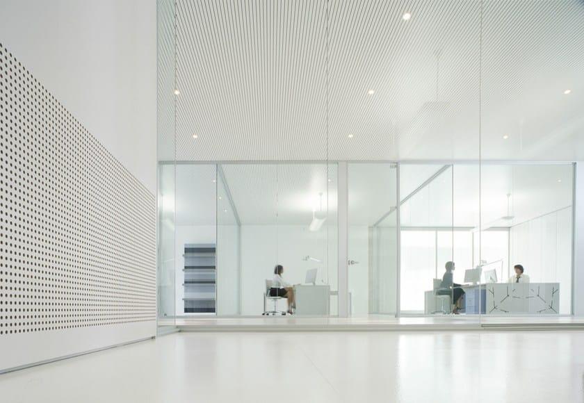 Glass partition wall I-WALLSPACE - FANTONI