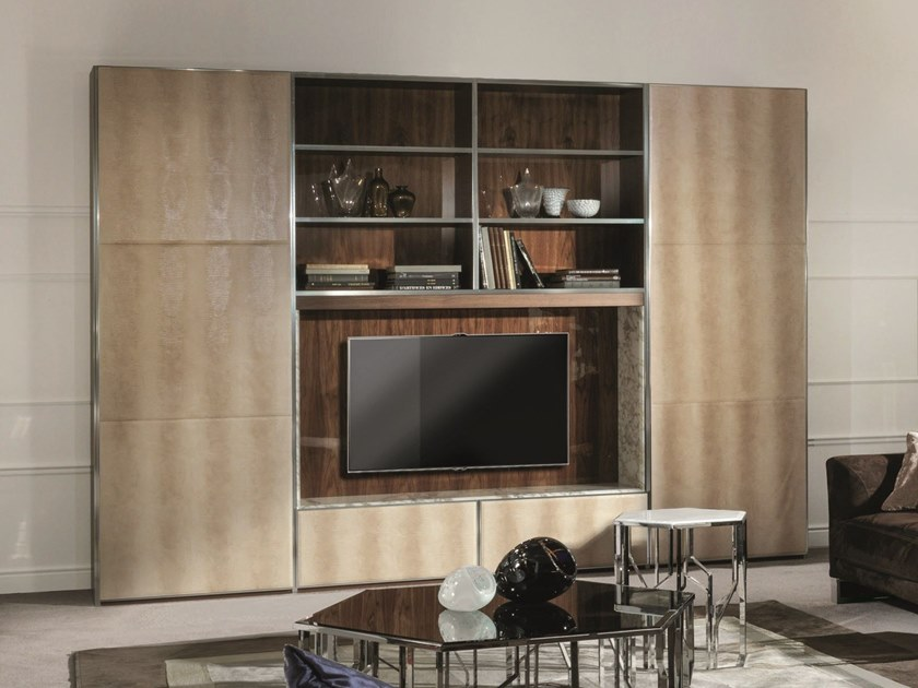 Sectional storage wall IANUS MIDDLE - Fratelli Longhi