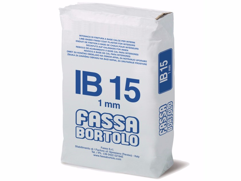 Hydraulic and hydrated lime based plaster IB 15 by FASSA