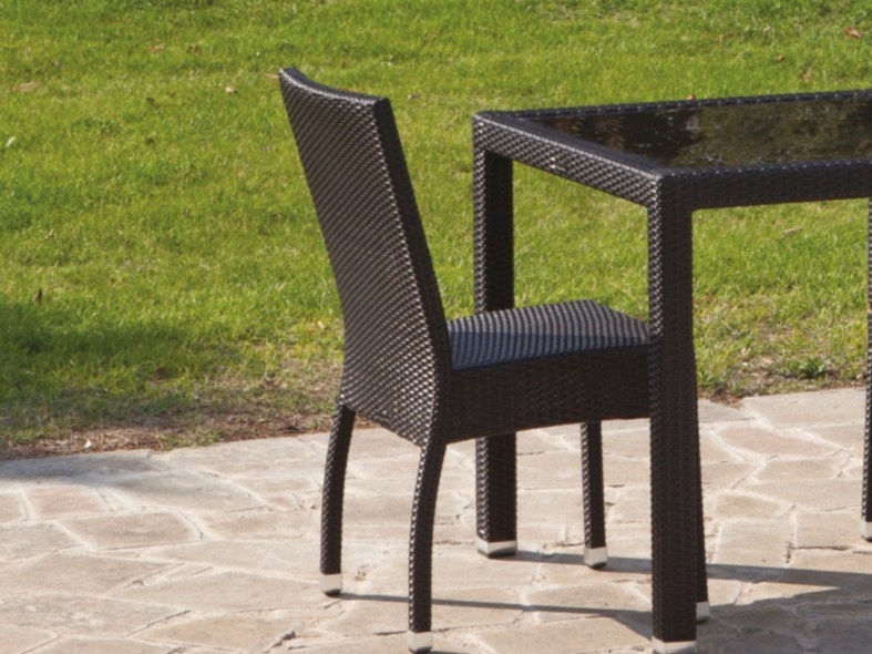 Stackable resin wicker garden chair IBIZA | Chair by Talenti
