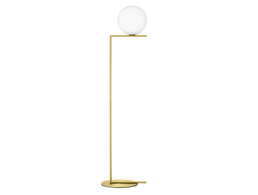 Brass floor lamp IC LIGHTS F2 - FLOS