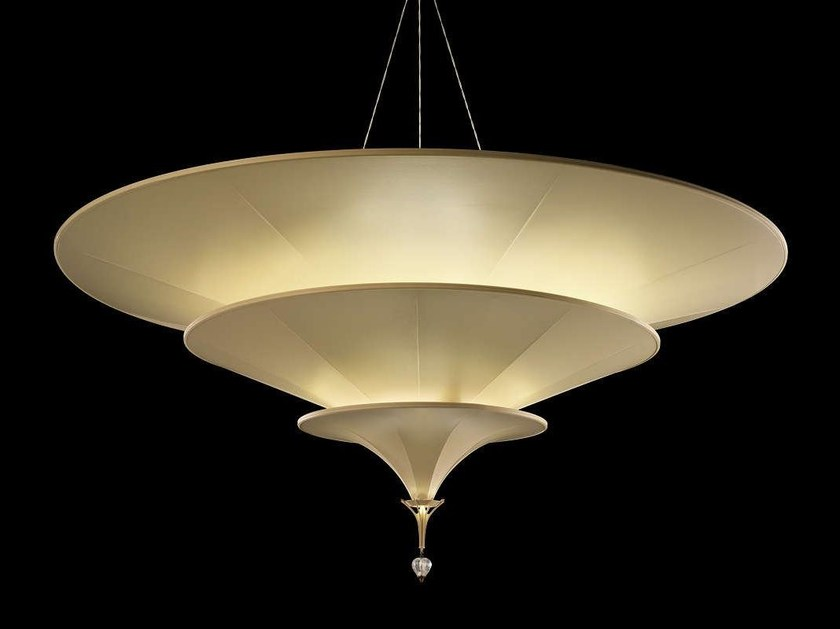 Silk pendant lamp ICARO - Fortuny® by Venetia Studium