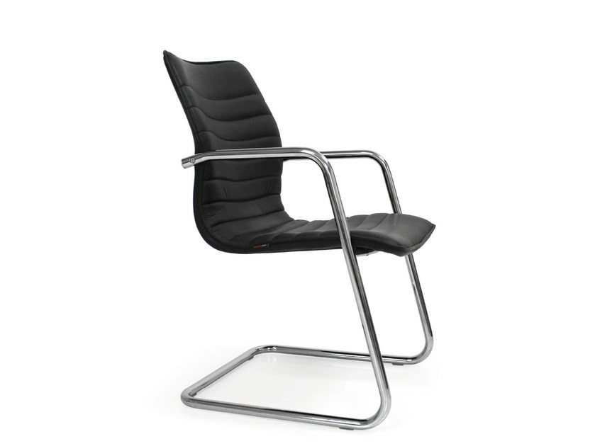 Cantilever leather reception chair ICE | Cantilever chair - Quinti Sedute