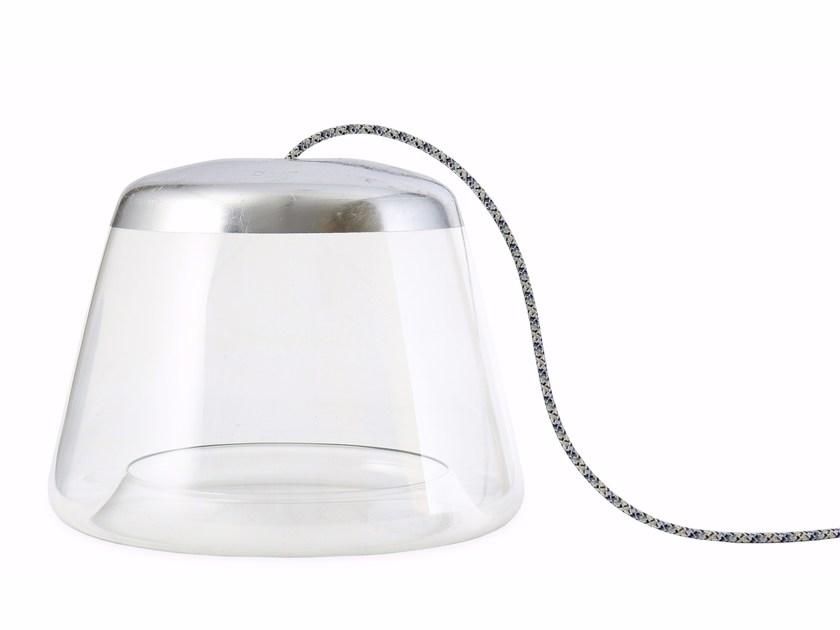 Direct light glass table lamp ICE-TB1500 SILVER - Hind Rabii