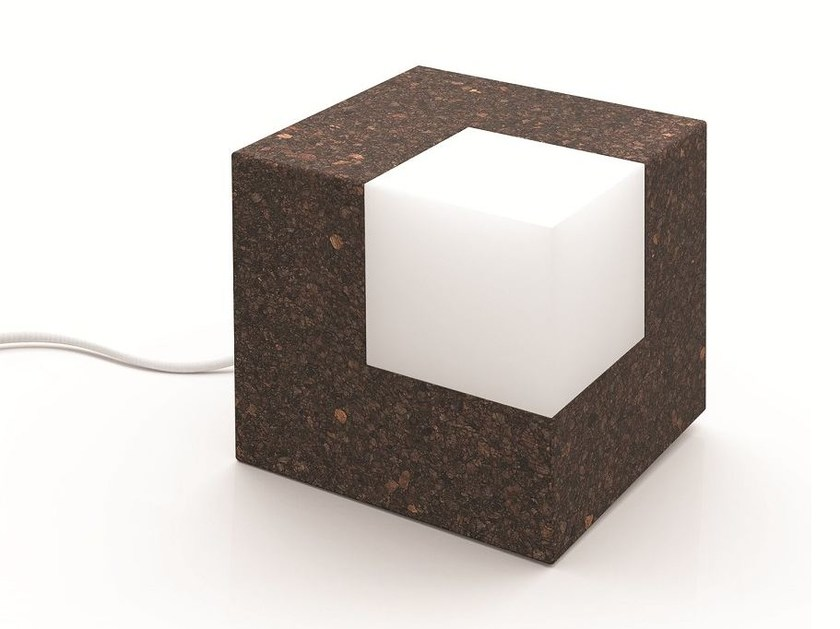 LED cork table lamp ICECUBE by Exporlux