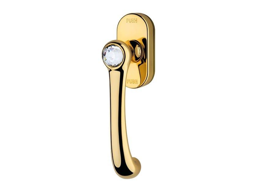 Classic style anti-intrusion DK window handle with Swarovski® Crystals IDEA | Anti-intrusion window handle - LINEA CALI'