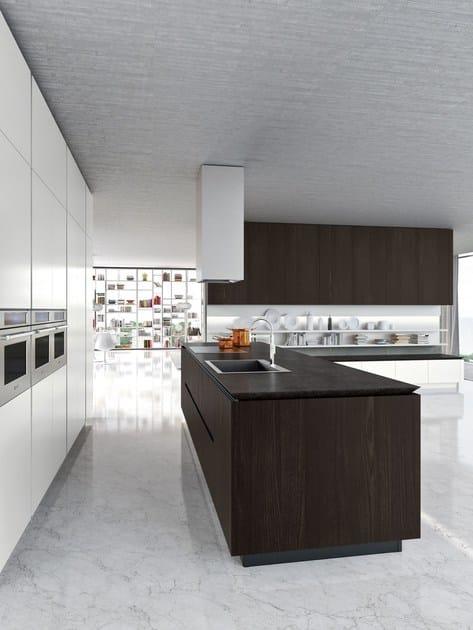Cucina componibile su misura in stile moderno con isola IDEA ...
