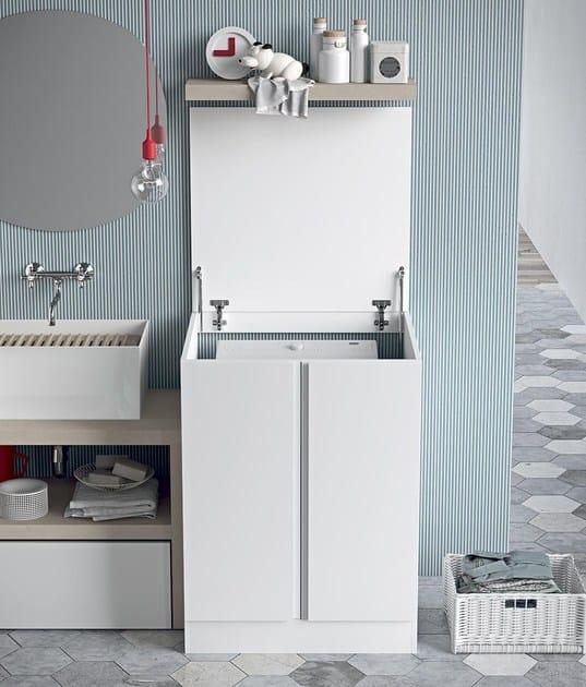 Mobile lavanderia componibile per lavatrice idrobox - Mobile componibile ...
