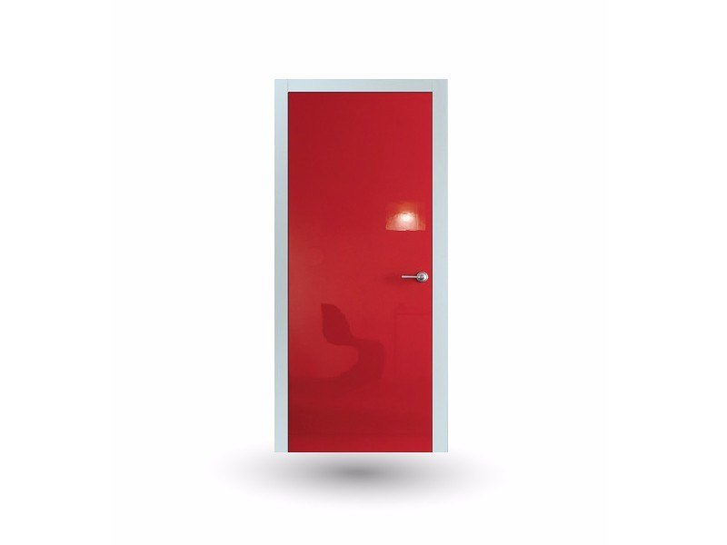 Hinged lacquered door IKI 80G SHINE ROSSO - GD DORIGO