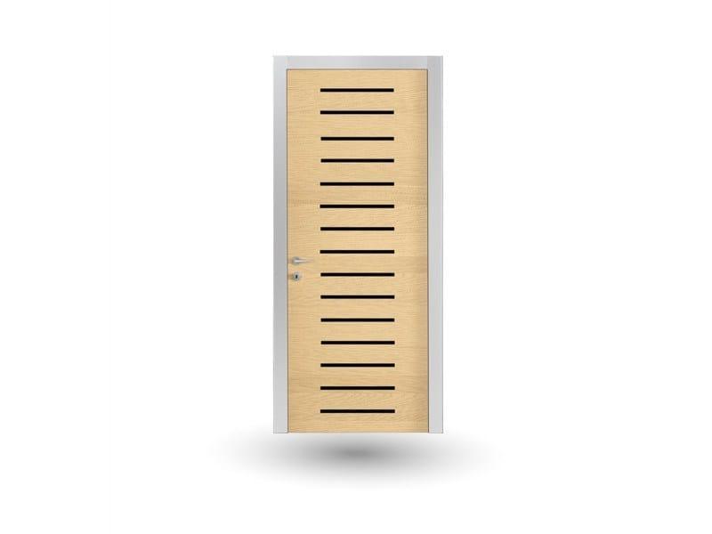 Hinged wooden door IKI 82G FRASSINO GHIACCIO - GD DORIGO