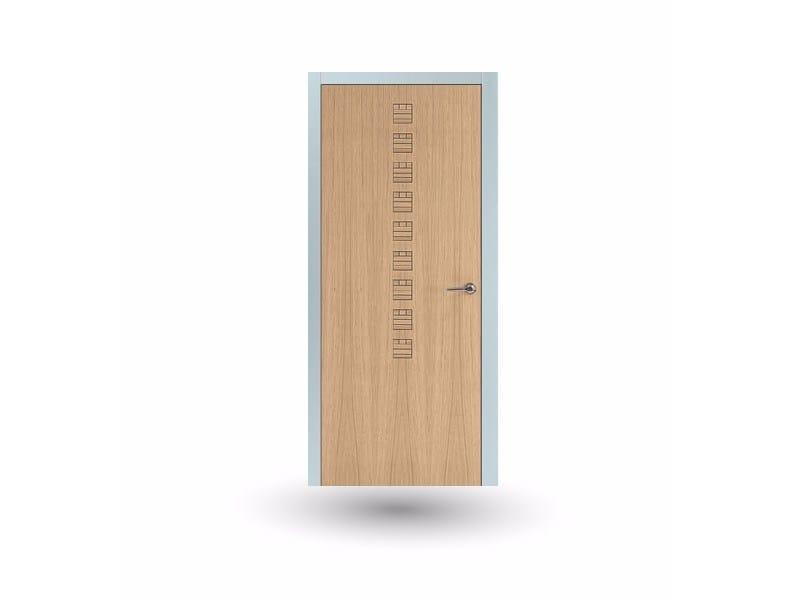 Hinged wooden door IKI 83G ROVERE GHIACCIO - GD DORIGO