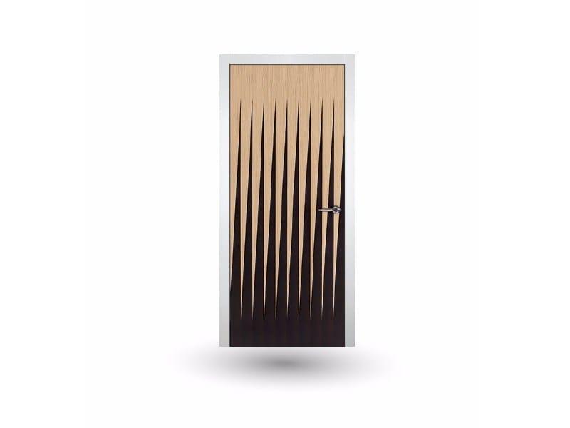 Hinged wooden door IKI 85G ROVERE GHIACCIO by GD DORIGO