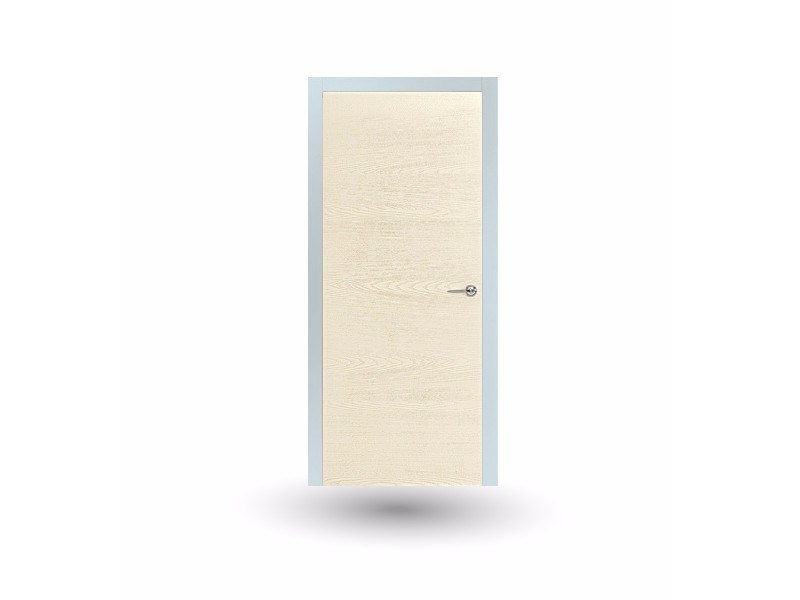 Hinged wooden door IKI 87G FRASSINO SPAZZOLATO AVORIO - GD DORIGO