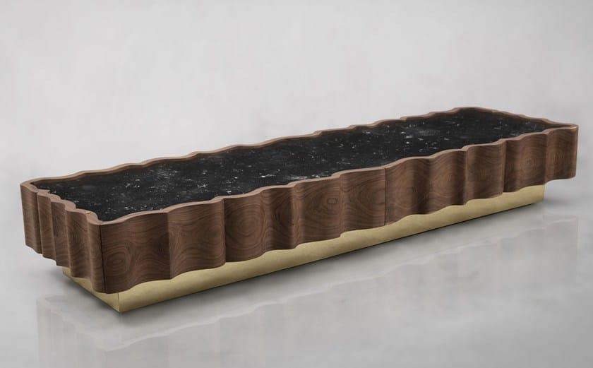 Modular walnut sideboard with drawers IL PEZZO 2 | Sideboard - Il Pezzo Mancante