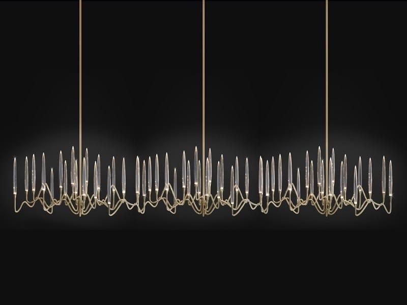 Lampadario a LED fatta a mano in cristallo IL PEZZO 3 ...
