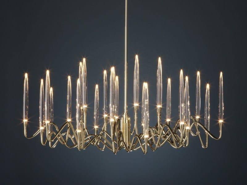LED brass chandelier IL PEZZO 3 | Round Chandelier - Il Pezzo Mancante