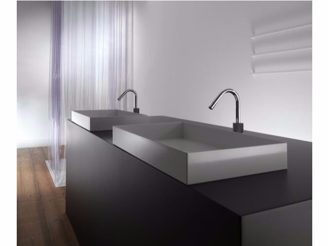 Rectangular metal washbasin ILA60 | Countertop washbasin by Moab80