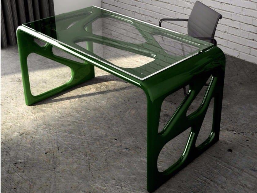 Lacquered Adamantx® workstation desk ILLA - ZAD ITALY