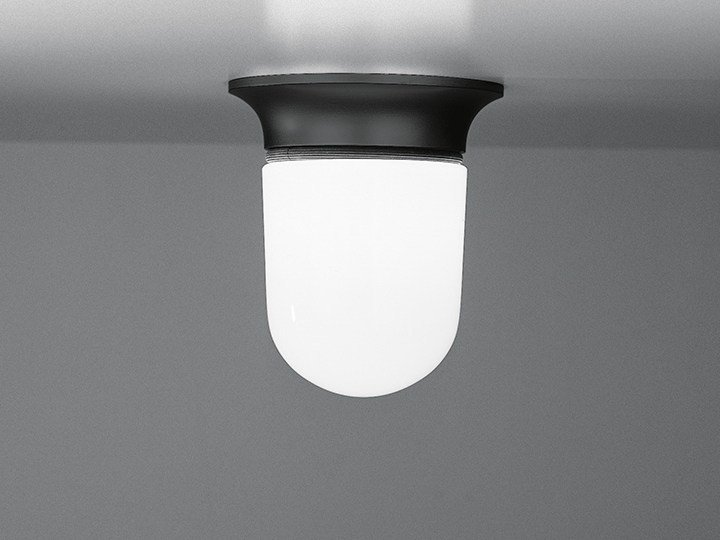 Blown glass ceiling lamp ILLO by Artemide