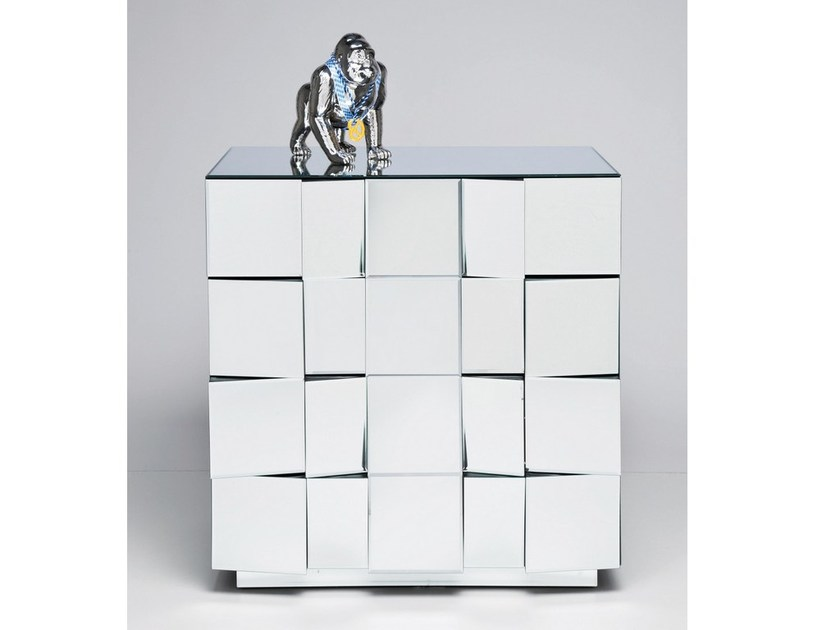 Free standing mirrored glass chest of drawers ILLUSION | Chest of drawers - KARE-DESIGN