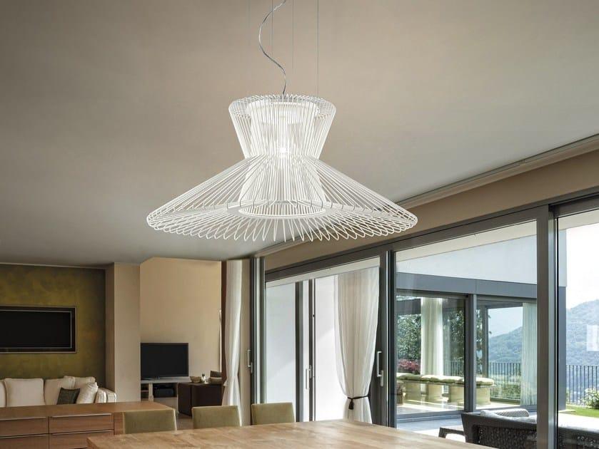 Adjustable painted metal pendant lamp IMPOSSIBLE B | Pendant lamp by Metal Lux