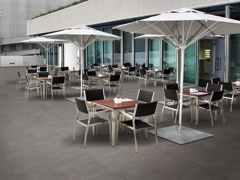 Glazed stoneware outdoor floor tiles with stone effect IN OUT & REVERSE | Outdoor floor tiles - Ceramica Cercom