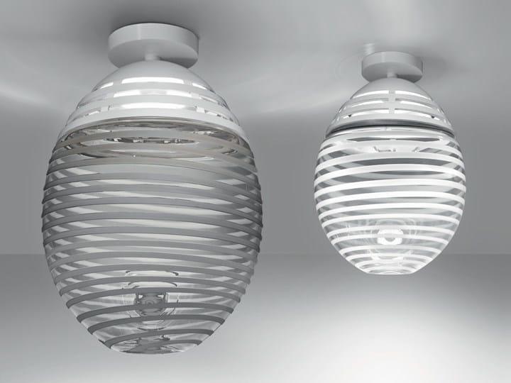 LED direct light Murano glass ceiling lamp INCALMO | Ceiling lamp - Artemide