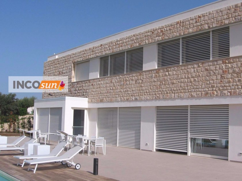 Adjustable aluminium solar shading INCOSUN by IN.CO.VAR.