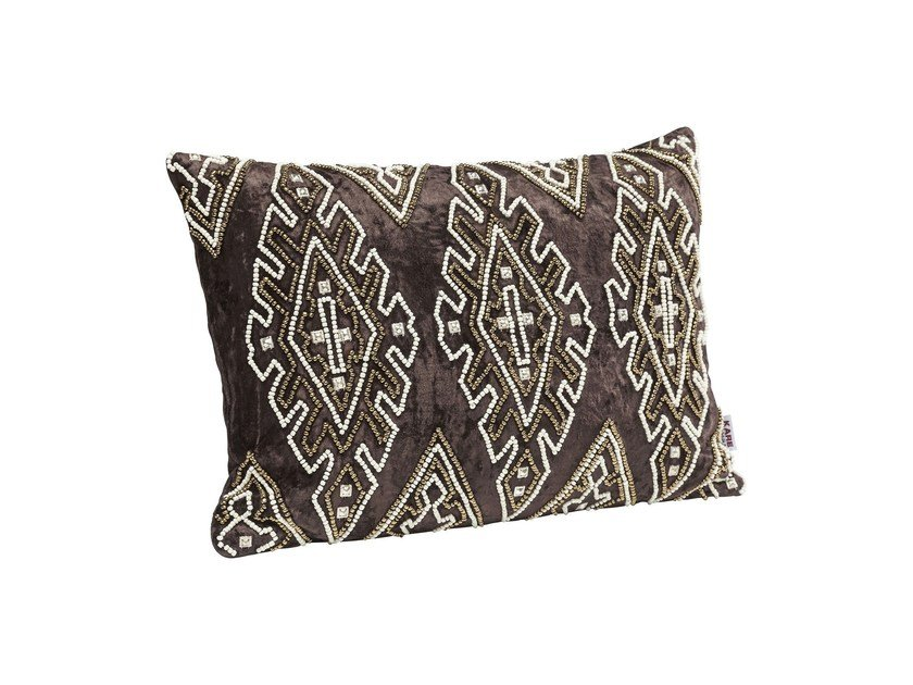 Rectangular fabric cushion INDIGO DELUXE - KARE-DESIGN