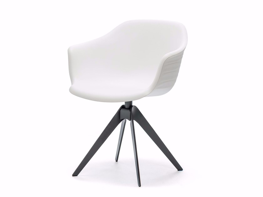 Upholstered fabric chair with armrests INDY by Cattelan Italia