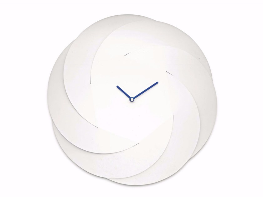 Wall-mounted steel clock INFINITY CLOCK - ALESSI