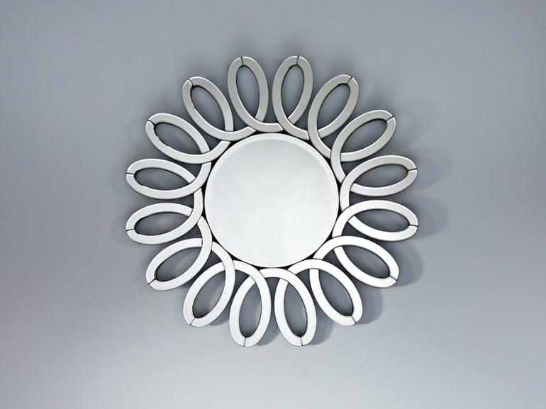 Round wall-mounted mirror INFINITY - DEKNUDT MIRRORS
